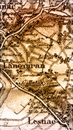 Carte des alentours de Château Suau