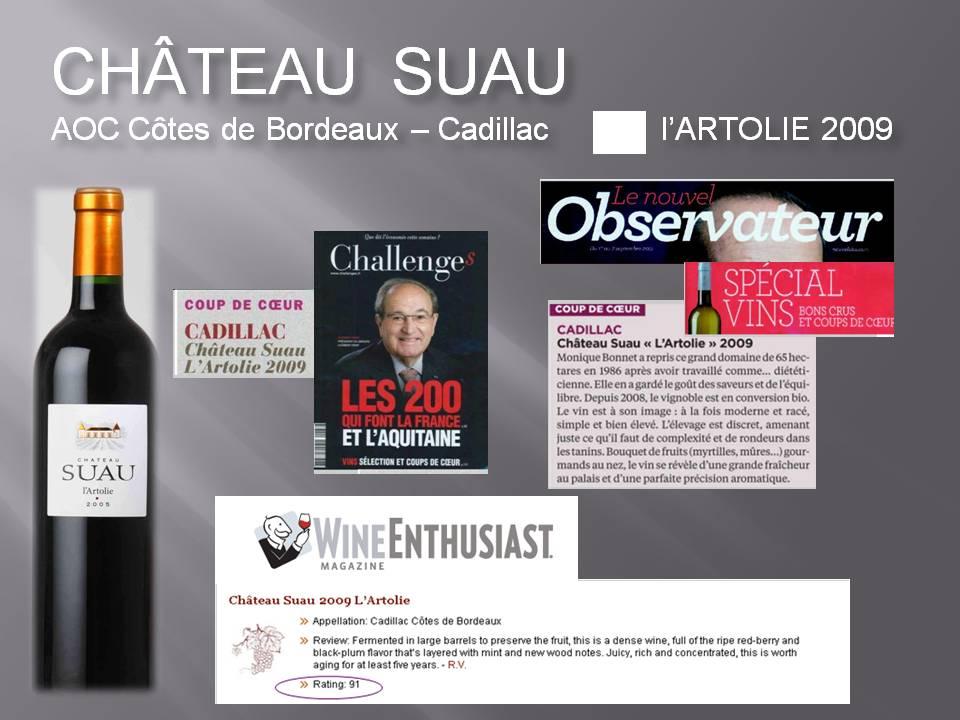 L'Artolie Côtes de Bordeaux 2009 - press